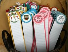 Cute list notepads made from letter-pad notebooks