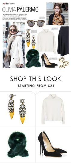 """""""Untitled #360"""" by zitanagy ❤ liked on Polyvore featuring BaubleBar, Rebecca Taylor and Jimmy Choo"""