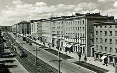 Aleja Grunwaldzka we Wrzeszczu / Grunwaldzka Avenue, Poland, Past, Louvre, Building, Travel, Retro, History, Fotografia, Past Tense
