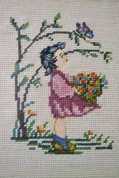 This Pin was discovered by Del Cross Stitch Designs, Cross Stitch Patterns, Cross Stitch Embroidery, Hand Embroidery, Butterfly Frame, Needlepoint, Needlework, Kids Rugs, Sewing