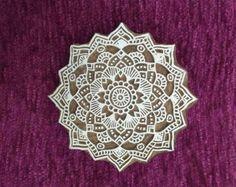 Grand tampon en bois motif de Mandala, timbre de la poterie, tampon bois textile, bloc d'impression bois sculpté à la main indien, tissu tampon tjaps