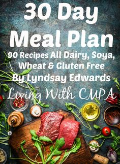 30 Day Meal Plan Recipes, Dairy free, Soya Free wheat free Gluten Free, recipe ebook, meal ideas, free from, allergy free cook book, breakfast lunch dinner