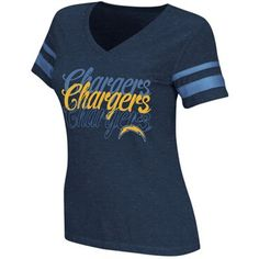 Reebok San Diego Chargers Ladies Triple Team Football V-Neck