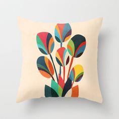 Ikebana - Geometric flower  Throw Pillow by Budi Satria Kwan - $20.00