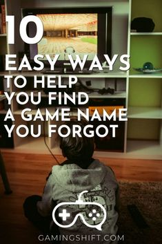 trying to remember a game name that you forgot can be frustrating. Especially if you really liked it and want to play it again. To help you check these 10 easy ways to help you find the game name you forgot #gaming #videogames Video Game Logic, All Video Games, Video Game Rooms, Video Games Funny, Gamer Setup, Gamers Anime, Reverse Image Search, Gaming Tips, Online Friends