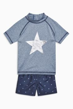 Buy Navy Star Swim Short And Vest Set (3mths-6yrs) from the Next UK online shop £15