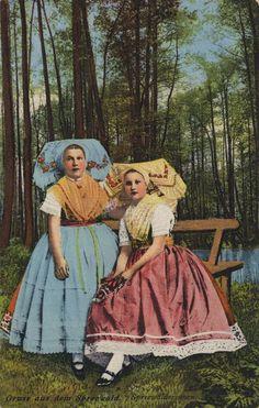 Spreewälderinnen, Deutschland, Postkarte, ca. 1900
