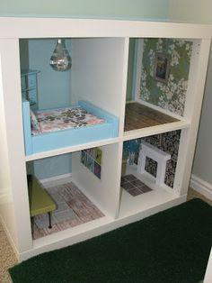 Occasionally Inspired: Bookshelf Barbie House