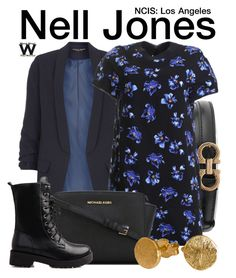 """""""NCIS: Los Angeles"""" by wearwhatyouwatch ❤ liked on Polyvore featuring Salvatore Ferragamo, Dorothy Perkins, MICHAEL Michael Kors and television"""