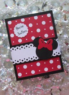 ideas birthday invitations diy girl cards minnie mouse for 2019 Girl Birthday Cards, Disney Birthday, Happy Birthday, Minnie Mouse Party, Mickey Party, Mickey Mouse, Disney Scrapbook, Scrapbook Cards, Baby Cards