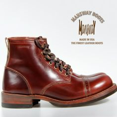 萬事威自家品牌 MANSWAY OFFER THE BEST QUALITY BOOTS WITH CAT'S PAW HEEL CAP DRESSY TOE CAP MADE EXCLUSIVELY FOR GENTLEMAN MADE IN THE USA