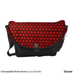 Customizable Flower Power Courier Bag