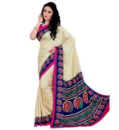 Miraan Art Silk Printed Saree VI1375A