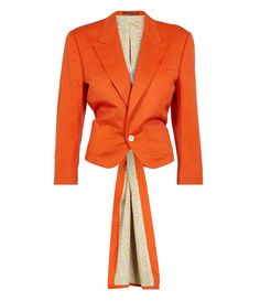 Bold! Bright orange tailcoat, just what everyone needs for those summer nights...