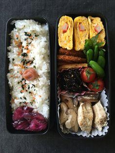 Obentou 2016.4.23 Bento Recipes, Healthy Recipes, Good Food, Yummy Food, Bento Box Lunch, Proper Nutrition, Aesthetic Food, International Recipes, Kids Meals