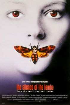 The Silence of the Lambs - Oscar-winning adaptation of Thomas Harris' crime novel starring Jodie Foster & Anthony Hopkins as Dr Hannibal Lecter. Iconic Movie Posters, Horror Movie Posters, Iconic Movies, Great Movies, 1990s Movies, Latest Movies, Famous Movies, Best 90 Movies, Good Horror Movies