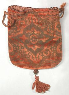 Fortuny stenciled velvet bag, 1920s, from the Vintage Textile archives.