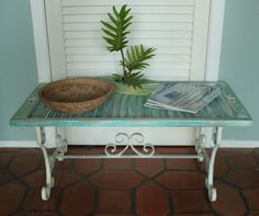 Vintage Shutter Table by RevisitedConcepts on Etsy