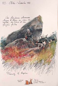 Tiens , à propos de lapin .. Je serai au Salon du livre de Sablé-Sur-Sarthe ce dimanche , pour présentation et dédicaces des carnets de Bretagne , en compagnie encore de tout plein d'auteurs aux talents divers et variés sur la thématique du voyage ( lien...