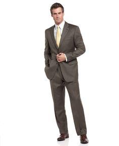 Lauren by Ralph Lauren Suit Separates, Olive Sharkskin - Mens Suits & Suit Separates - Macy's