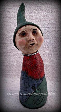 Original OOAK Handmade Folk Art Sculpture by Treasuresnwhimsy