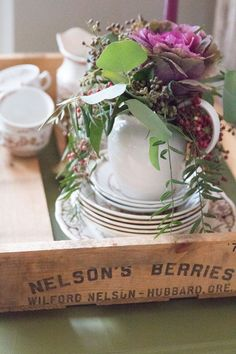 Vintage Berry Crate Vingnette  | Finding Home Farms
