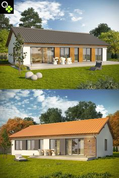 Tropical House Design, Small House Design, Tropical Houses, Small Modern House Plans, Village Houses, Park Homes, Cottage Homes, Construction, Home Fashion