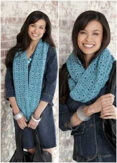 26 Cozy DIY Infinity Scarves With Free Patterns and Instructions - DIY & Crafts for Whitney Crochet Scarves, Crochet Shawl, Diy Crochet, Crochet Crafts, Crochet Clothes, Diy Crafts, Crochet Infinity Scarf Free Pattern, Crochet Granny, Crochet Projects