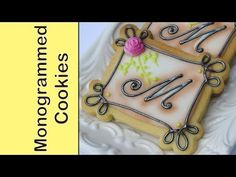 How to make monogrammed cookie   By Montreal Confections     http://montrealconfections.blogspot.com/     http://www.youtube.com/user/montrealconfections/videos