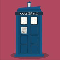 The Tardis, Dr Who