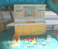 Vtg Ideal Toy Mini Matic 70s Kitchen Set Barbie Sized Appliances Accessories