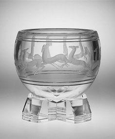 """Gazelle"" vase by Sidney Biehler Waugh (American, Amherst, Massachusetts 1904–1963 New York, New York). Manufacturer: Corning Glass Works, Steuben Division (Corning, New York). Date: 1935"