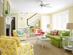 Bright, colorful Palm Beach style #hgtvmagazine http://www.hgtv.com/decorating-basics/tropical-style-in-the-suburbs/pictures/page-3.html?soc=pinterest