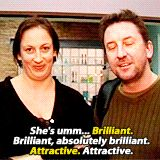 Miranda Hart And Lee Mack - Comedians saying funny things. British Sitcoms, British Comedy, Miranda Hart Quotes, Miranda Tv Show, Lee Mack, British Humor, Comedy Tv, Good Humor, How To Show Love