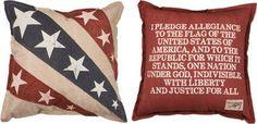 """Pledge of Allegiance"" Pillow"