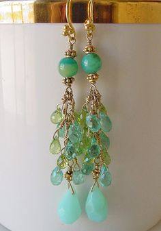 Artisan handcrafted Gemstone & pearl Earrings | online Jewelry Boutique | Schaef Designs Gemstone Jewelry | San Diego, CA