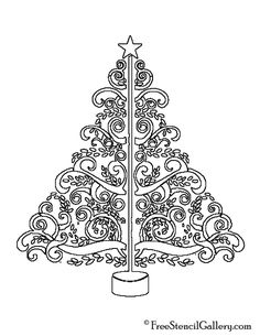 how to make a tree stencil