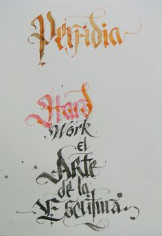 Calligraphy Types IV