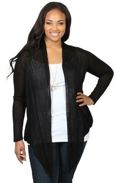 plus size long sleeve jersey cozy... but in charcoal.