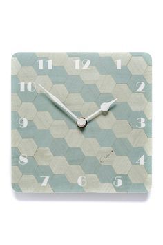 Blue Wall Clock Melamine clock duck egg Blue small Kitchen Clock 7 inch Square Birthday Gift Mothers day gift for Mom FREE UK Shipping Duck Egg Blue Wall, Duck Egg Blue Kitchen, Blue Wall Clocks, Kitchen Clocks, Mother Birthday Gifts, Hexagon Shape, Quartz Clock Mechanism, Blue Walls, Getting Organized