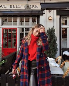 Awesome 44 Adorable Winter Outfits Ideas To Wear Now. Awesome 44 Adorable Winter Outfits Ideas To Wear Now. Mode Outfits, Fashion Outfits, Womens Fashion, Fashion Trends, Fashion 2018, Casual Outfits, Fashion Lookbook, Red Outfits For Women, Fashion Ideas