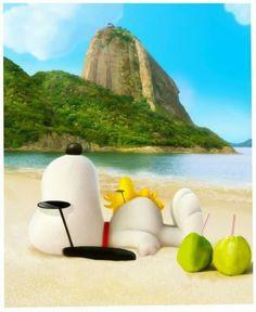 Snoopy & Woodstock on the Beach!!                                                                                                                                                     More