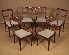 Six Regency Rosewood Dining Chairs C.1830. - Antiques Atlas
