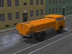 Skoda 706 Wasser-Sprengwagen mit Tauschtextur