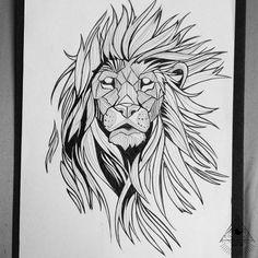 Disponível para tatuar! Consultar preço via facebook. Link in bio  #blackworktattoo #blackworkillustration #liontattoo #lionillustration #brokentattoo #brokenink #brokeninktattoo Tattoo Sketches, Tattoo Drawings, Art Sketches, Lion Tattoo Design, Tattoo Designs, Design Tattoos, Head Tattoos, Sleeve Tattoos, Tatoos