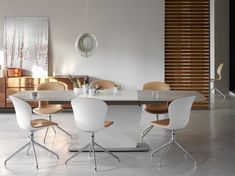 Dinning room idea white dinning set white modern big table interior design scandinavian design BoConcept Trójmiasto #bctrojmiasto