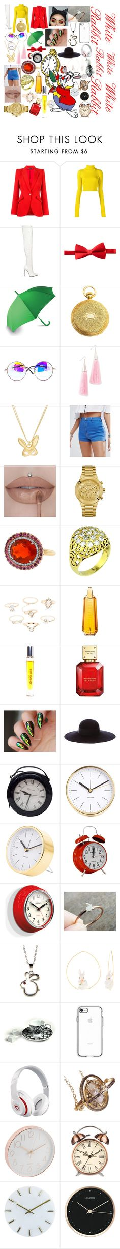 """""""White Rabbit"""" by oobabydolloo ❤ liked on Polyvore featuring Disney, Alexander McQueen, Jacquemus, Le Silla, Michelsons, LEXON, Eddie Borgo, Finn, Missguided and GUESS"""