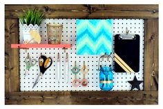 Framed Pegboard for Craft Room Organization   Crafting in the Rain