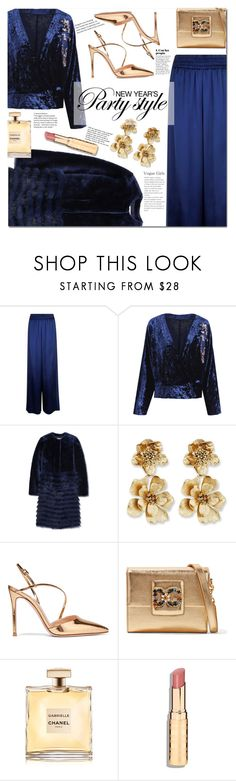"""New Year's Party"" by mery90 ❤ liked on Polyvore featuring Golden Goose, Tory Burch, Oscar de la Renta, Gianvito Rossi, Dolce&Gabbana, Tiffany & Co., party and newyearsparty"