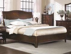 Lincoln Park Queen Sleigh Bed with Low Profile Footboard by Aspenhome - Walker's Furniture - Sleigh Bed Spokane, Kennewick Washington, Coeur d'Alene Idaho, Hermiston Oregon